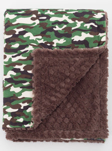 Green Camo Child Blanket - Boho Valley Boutique