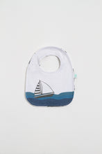 Load image into Gallery viewer, Sailboat Reversible Bib - Boho Valley Boutique