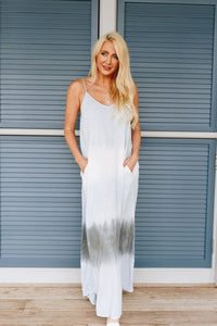 Beach Babe Tie Dye Maxi Dress - Boho Valley Boutique