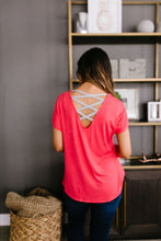 Load image into Gallery viewer, Behind My Back Tee In Coral