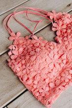 Load image into Gallery viewer, Daisy Delight Bralette In Coral - Boho Valley Boutique