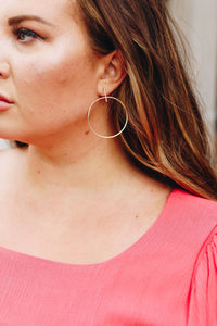 Hooped Simplicity Earrings In Gold - Boho Valley Boutique