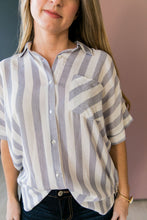 Load image into Gallery viewer, Katelynn Striped High-Low Button-Down