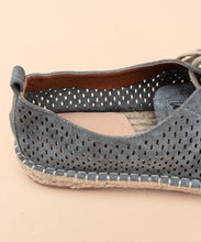 Load image into Gallery viewer, Perforated Suede Espadrille Sneakers