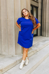 Look Like Royalty Dress In Royal Blue - Boho Valley Boutique