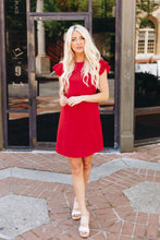 Load image into Gallery viewer, Look Like Royalty Dress In True Red - Boho Valley Boutique
