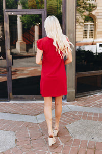 Look Like Royalty Dress In True Red - Boho Valley Boutique