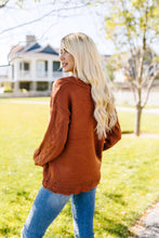 Load image into Gallery viewer, Rustic Retreat Cable Knit Sweater
