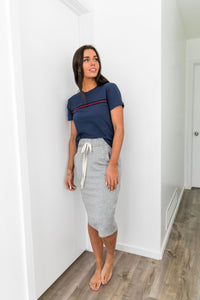 Spring Break Knit Midi Skirt