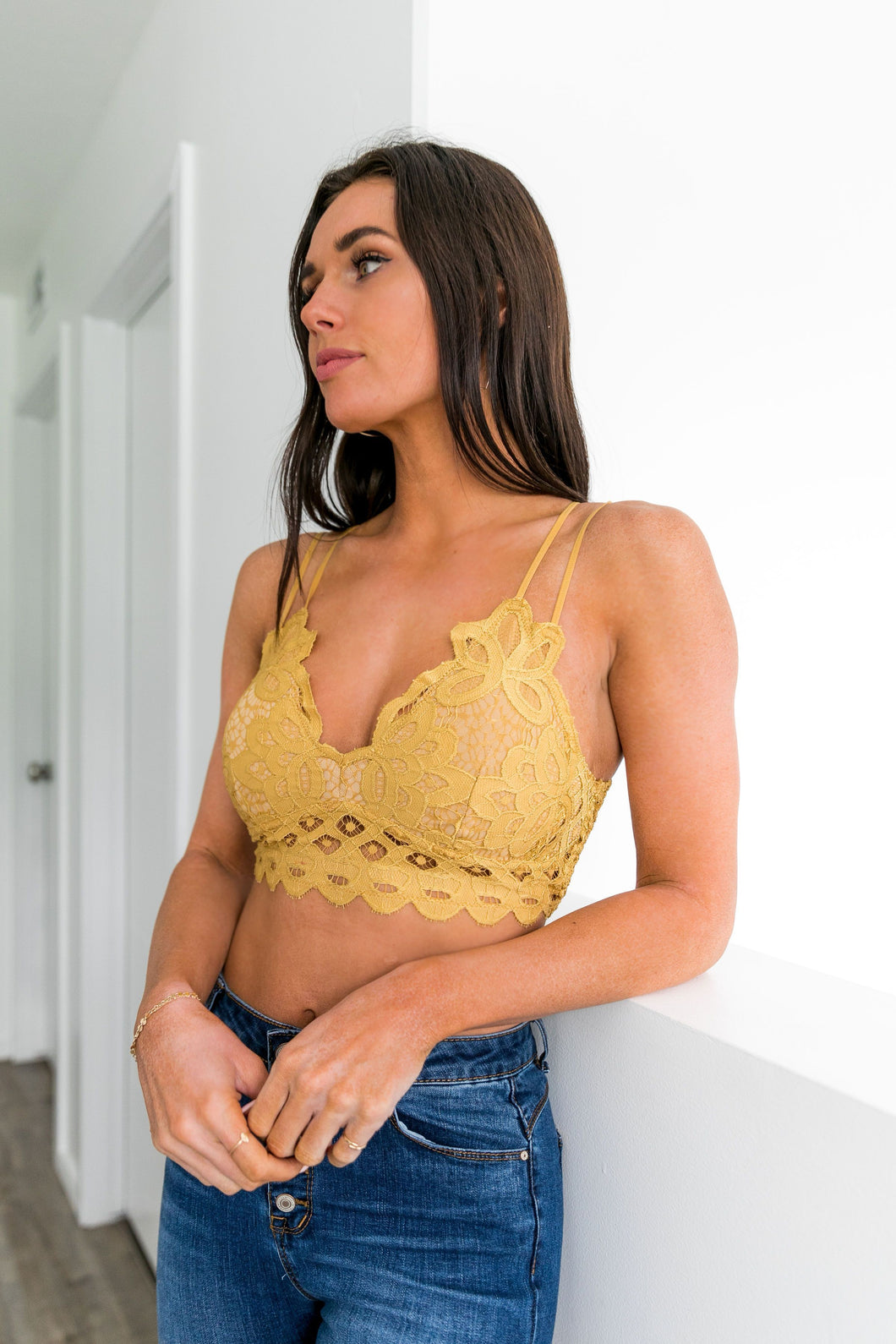 XOXO Scalloped Lace Bralette In Honey - Boho Valley Boutique