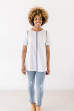 Load image into Gallery viewer, Arrow Embroidered Top - Boho Valley Boutique