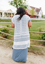 Load image into Gallery viewer, Artsy Crocheted Cardi In Ivory - Boho Valley Boutique