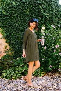 Autumn Embroidered Shirt Dress - Boho Valley Boutique