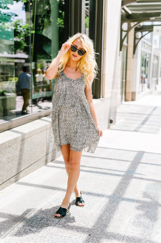 Baby Leopard Spot Ruffled Dress - Boho Valley Boutique