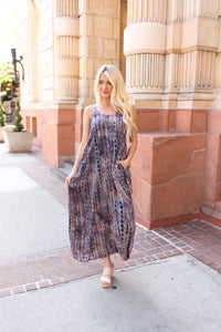 Bamboo Forest Tie Dye Maxi Dress - Boho Valley Boutique