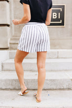 Load image into Gallery viewer, Beach Day Striped Cotton Shorts