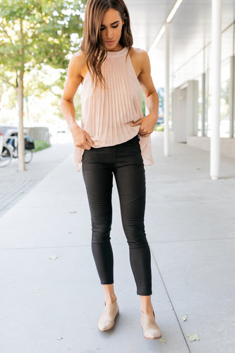 Beyond Basics Black Moto Jeggings - Boho Valley Boutique