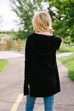 Load image into Gallery viewer, Black Hooded Cardigan