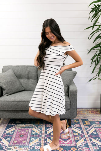 Black, White + Red Hot All Over Dress - Boho Valley Boutique