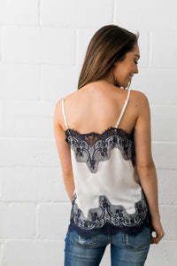 Chantilly Lace Camisole - ALL SALES FINAL - Boho Valley Boutique