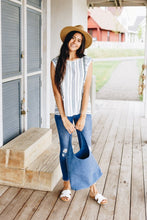 Load image into Gallery viewer, Cherokee Cap Sleeve Blouse In White - Boho Valley Boutique