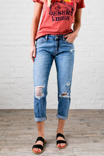 Load image into Gallery viewer, Collateral Damage Boyfriend Jeans