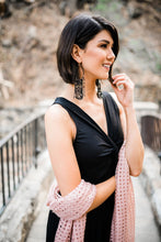 Load image into Gallery viewer, Confetti Beaded Earrings In Black