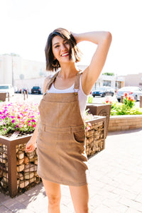 Courtney Corduroy Overall Dress - Boho Valley Boutique