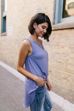 Load image into Gallery viewer, Criss Cross Periwinkle Tank - Boho Valley Boutique