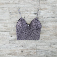 Load image into Gallery viewer, Cropped Lace Camisole In Dusk
