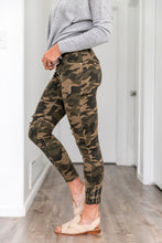 Load image into Gallery viewer, Distressed Mid Rise Camo Jeans - Boho Valley Boutique