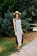Load image into Gallery viewer, Double Dipped Striped Dress - Boho Valley Boutique