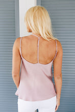 Load image into Gallery viewer, Draped Neck Satin Cami In Lilac - Boho Valley Boutique