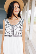Load image into Gallery viewer, Embroidered Bodice Midi Dress - Boho Valley Boutique