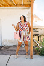 Load image into Gallery viewer, Fall Fantasy Striped Romper - Boho Valley Boutique