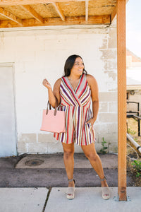 Fall Fantasy Striped Romper - Boho Valley Boutique