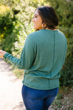 Load image into Gallery viewer, Fern Waffle Knit Henley - Boho Valley Boutique