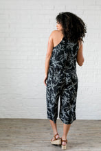 Load image into Gallery viewer, Floral Spray Black + White Jumpsuit - Boho Valley Boutique