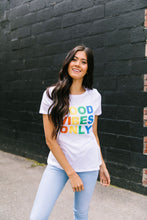 Load image into Gallery viewer, Good Vibes Only Graphic Tee - Boho Valley Boutique