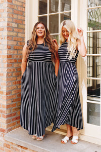 Have It Both Ways Striped Dress - Boho Valley Boutique