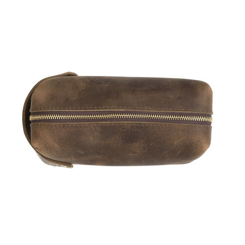 High Line Large Dark Brown Leather Pouch - Boho Valley Boutique