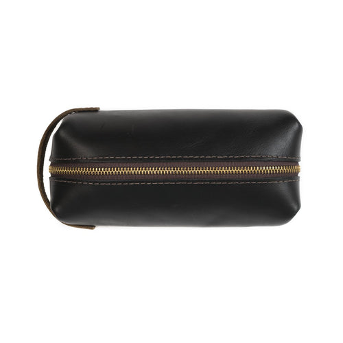 High Line Large Black Leather Pouch - Boho Valley Boutique