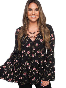Wildflowers Top - Boho Valley Boutique