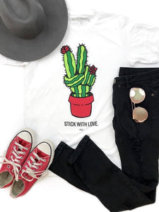 Stick with Love Tee - Boho Valley Boutique