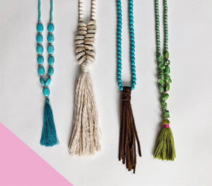 Bohemian Leather Tassel Necklace - Boho Valley Boutique