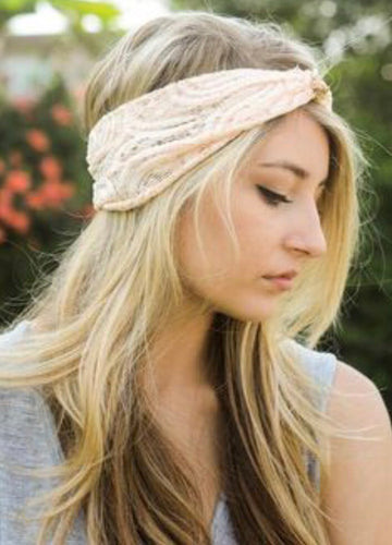 Lace Turban Headband (4 Colors Available) - Boho Valley Boutique