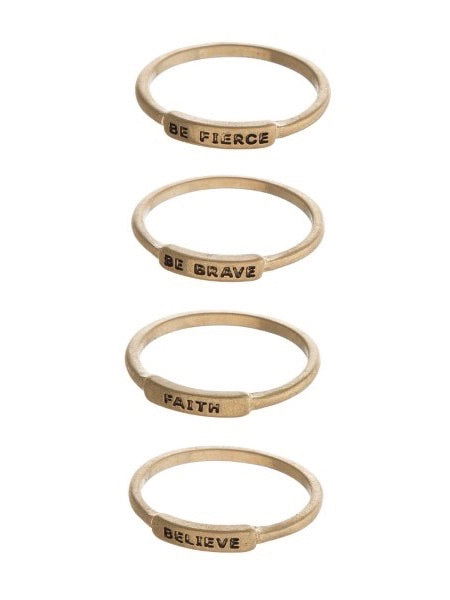 Inspire Me Ring Set - Boho Valley Boutique