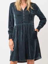 Load image into Gallery viewer, Velvet Button Down Dress (Large) - Boho Valley Boutique