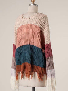 Good Vibes Only Sweater (M/L) - Boho Valley Boutique