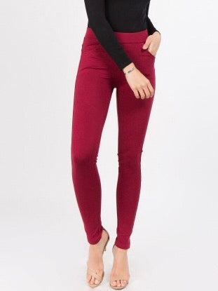 Ponte Knit Slim Pants - Boho Valley Boutique